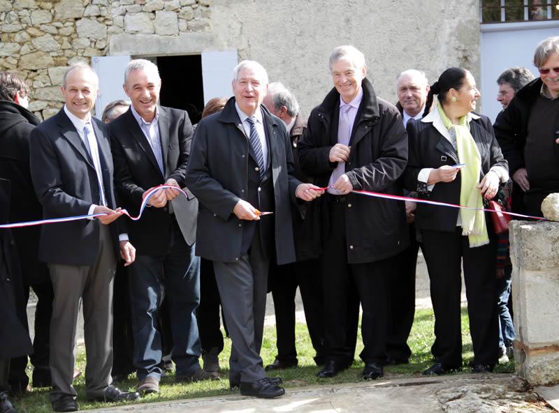 Inauguration du moulin de Pinquet à Saint Félix de Foncaude